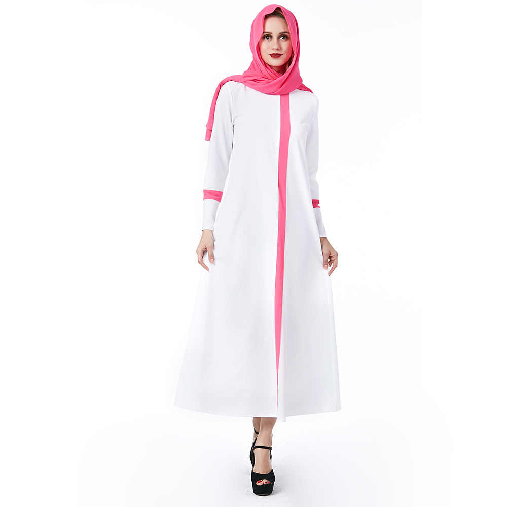Muslim Religious Women s Dress White Church loose long Dress nun Style  Vacation travel Clothes plus size cd687dd0a37d