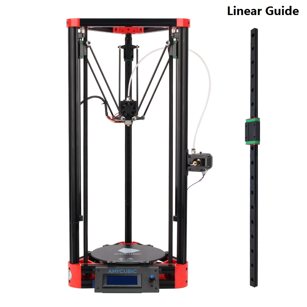 ФОТО 3D printer Delta Kossel MGN12 12mm width 450mm Length linear rail slide + 1pcs MGN MGN12H carriage CNC for X Y Z axis