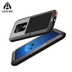 Для LG G7 6,1 дюймов оригинальные Lovemei тяжелых Алюминий металл + Горилла Стекло шок падения Водонепроницаемый чехол для LG g7 LG701