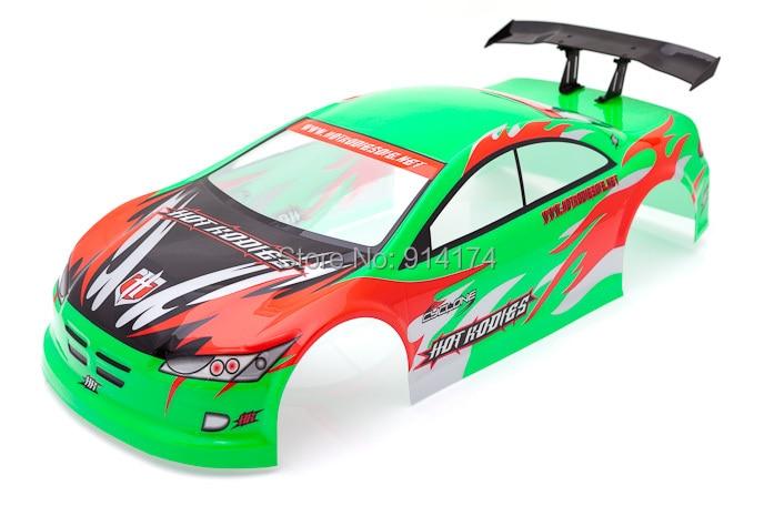 1/10 RC Car PVC painted body shell Body Shell 190mm Green S010G