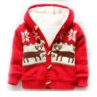 Bebek Kış Giyim Mercan Polar Sıcak Ceket Bebek Erkek Kız Örgü Hırka Kalınlaşma Ceket 1-5 yaşında