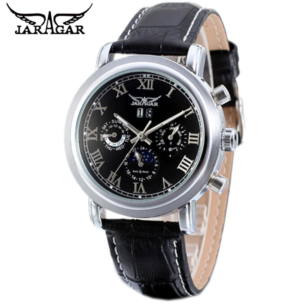 2017 JARAGAR  Luxury Watches Men 6 Hands Day Roman Numberala Automatic Mechanical Watch Wristwatch цены онлайн