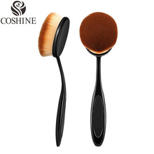 Natural Makeup 2016 New Big Oval Tooth Brush Style Foundation Makeup Air Brush Loose powder Synthetic Hair Brush Big One