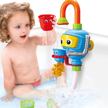 Fountain Faucet Baby Bath Toys Kawaii Cartoon Spray Water Toy for Children Kids Non Toxic Plastic Bathroom Shower Accessories