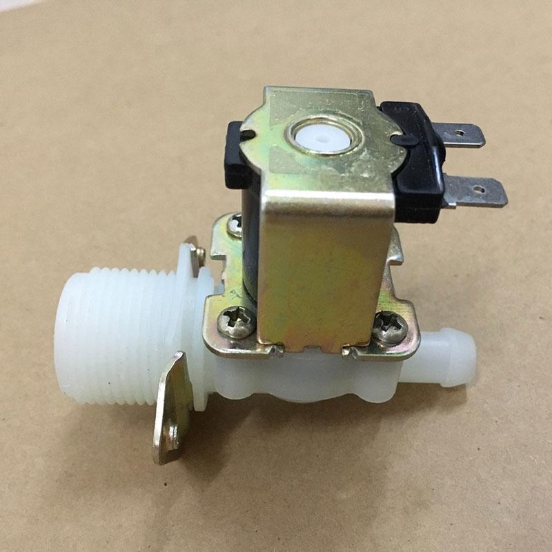 EBOWAN preencher Válvula De Controle de Fluxo de Água de Entrada Da Válvula Solenóide de Plástico Normalmente Fechado DC12v DC24V AC220V