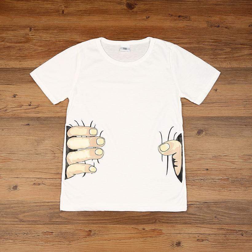 2018 3D Childrens T-Shirt Cartoon Top Tee Fingers Design Toddler Boys Girls TShirt Cotton Short Sleeve T-Shirts