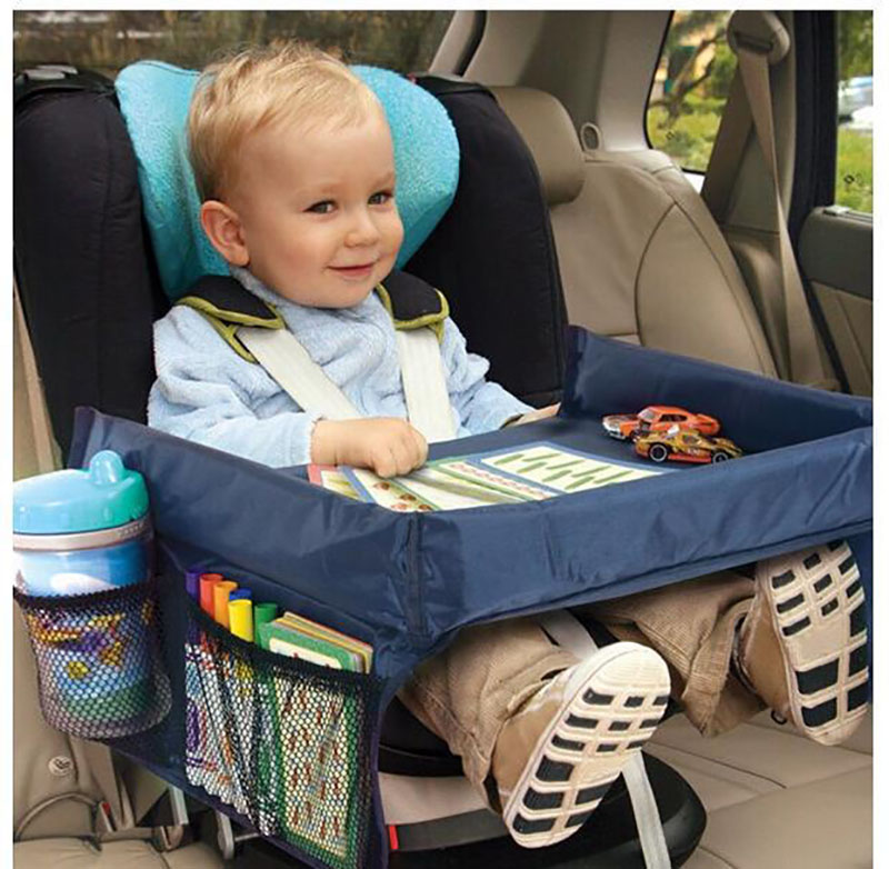 Waterproof Children Car Stroller Seat Tray Kid Toy Snack Storage Dining Table Holder Car Painting Tray Desk Stroller Accessories