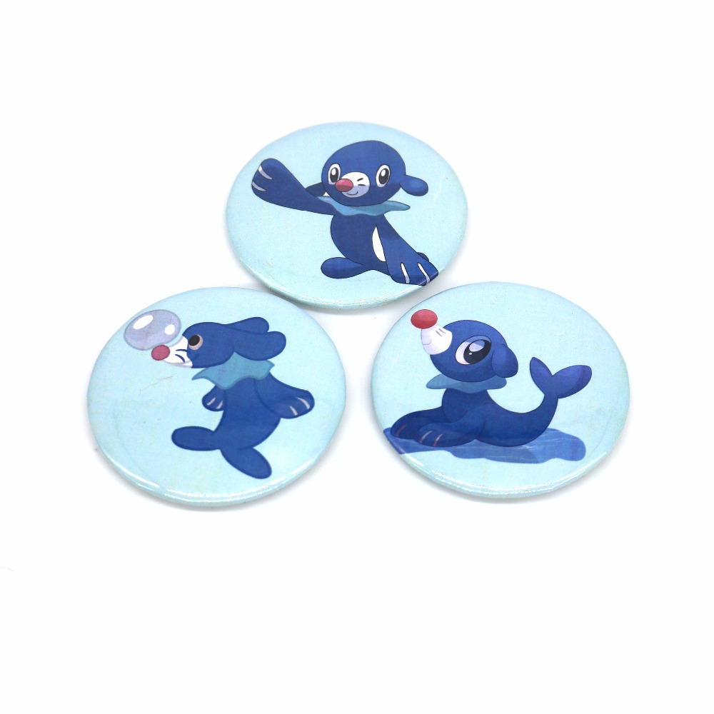 New Sun and Moon Starters Popplio Pin BUTTONS Badges Brooches School Bag Badge Game Collection Great Gift For Unisex Fan