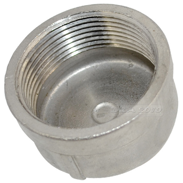 Megairon bspt quot dn pipe cap female stainless steel