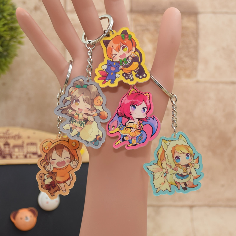 9 Styles Love Live Acrylic Keychain Cute Game Anime Pendant Car Key Chain Key Accessories LL010