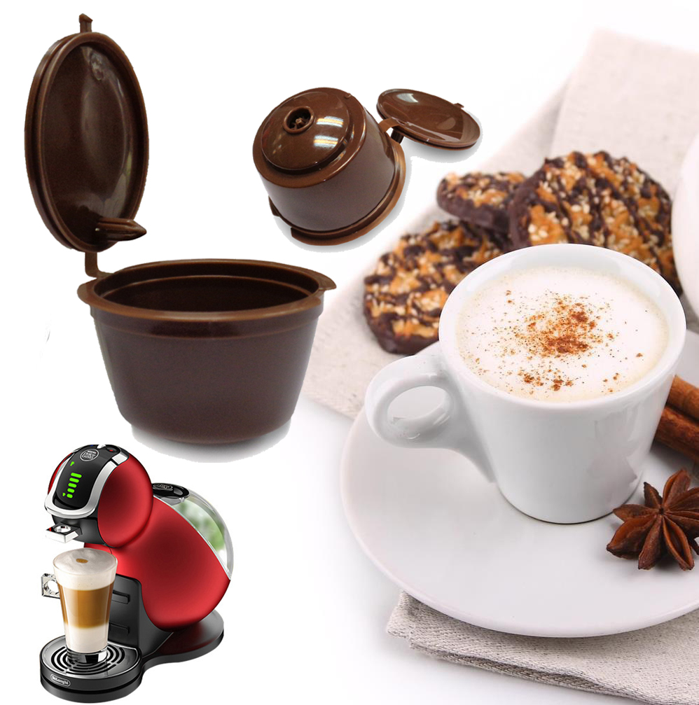4pcs pack refillable dolce gusto coffee capsule nescafe. Black Bedroom Furniture Sets. Home Design Ideas