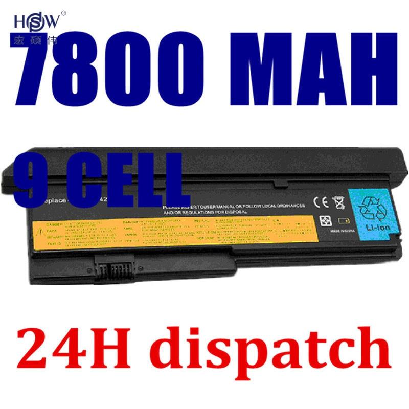 купить HSW 7800mAh Battery For LENOVO ThinkPad X200 X200S X201 X201i X201S 42T4834 42T4835 43R9254 42T4537 42T4541 42T4536 42T4538 онлайн