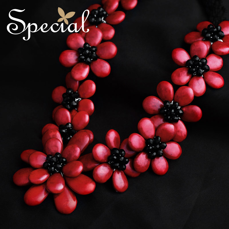 Special Brand New Fashion Flower Maxi Necklace Natural Onyx Necklaces & Pendants Statement Fine Jewelry for Women XL141148 - 4