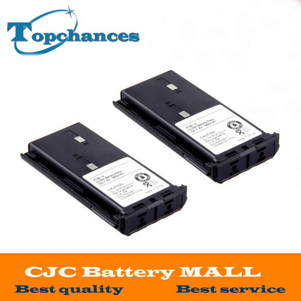High Quality 2X 1800mAh KNB-14A Battery for KENWOOD <font><b>TK</b></font>-2102 <font><b>TK</b></font>-2107 <font><b>TK</b></font>-3101 <font><b>TK</b></font>-3102 <font><b>TK</b></font>-<font><b>3107</b></font> image