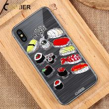 CASEIER Sushi Soft Phone Case For iPhone 7 8 Plus 6 6s Plus TPU Silicone Cases For iPhone X 5 5S SE Japanese style Funda Capa caseier japanese style phone cases for iphone x xs max xr soft silicone tpu funda for iphone 8 7 6 6s plus 5 5s se capa case