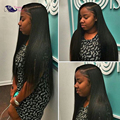 Peruvian Virgin Hair Straight With Closure 8A Peruvian Virgin Hair with Closure 4 Bundles Human Hair Weave with Closure