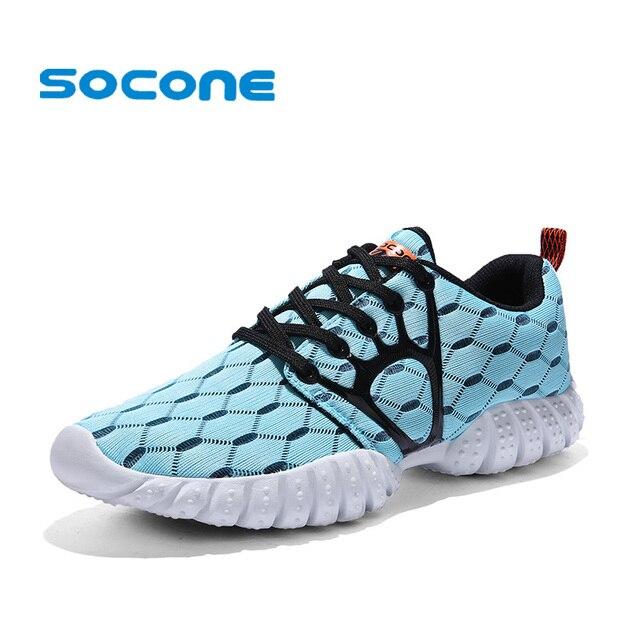 287e634ccd3 SOCONE Vrouwen Mesh Loopschoenen Ademende Zomer Dames Sneakers 2019 Sport  Schoenen voor Vrouwen Lichtgewicht Sneakers Wandelschoenen