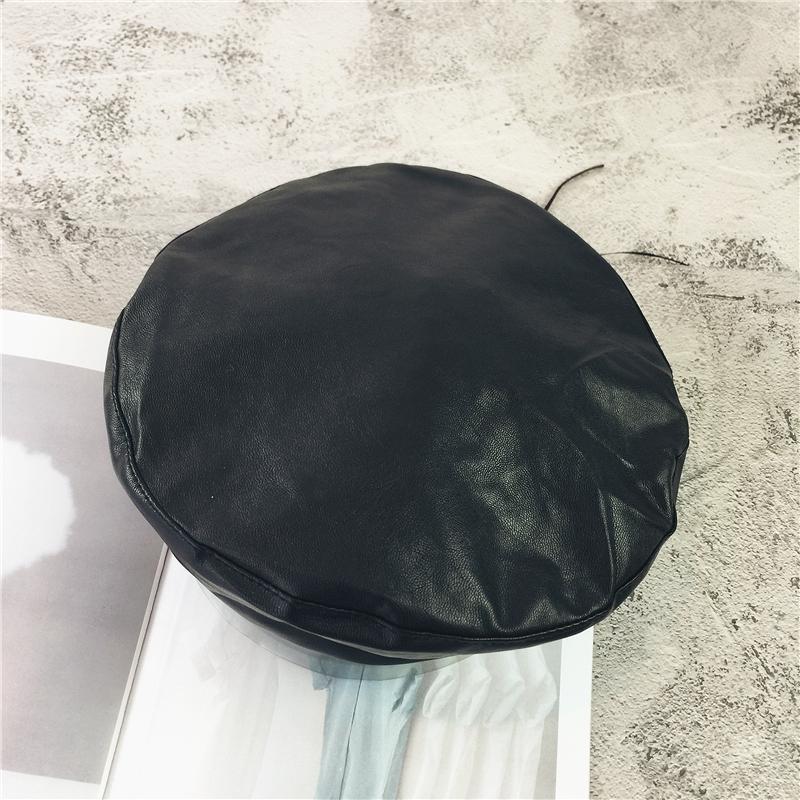 AS-FR88146-Pu-Chapeaux-en-cuir-pour-femmes-Flat-Cap-Femme-Boina-Beret-solide