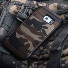 New Army Camo Camouflage Pattern back cover Hard Plastic TPU Armor Anti-knock protective case For Samsung Galaxy S7 & S7 Edge hot muscle man pattern protective tpu back case for samsung galaxy siii mini i8190 white brown