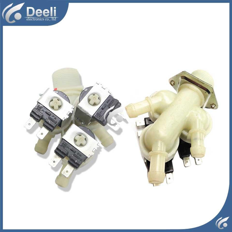 все цены на  1pcs Original for Drum washing machine inlet valve three heads  онлайн