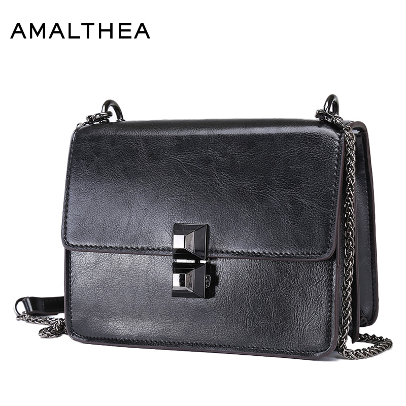 AMALTHEA Brand Fashion Shoulder Bags Handbags Women Famous Brands Chain Messenger Bag Female Crossbody Flap Womens Bag AMAS008 vintage women bag high quality crossbody bags luxury designer large messenger bags famous brands female shoulder bag tassen flap