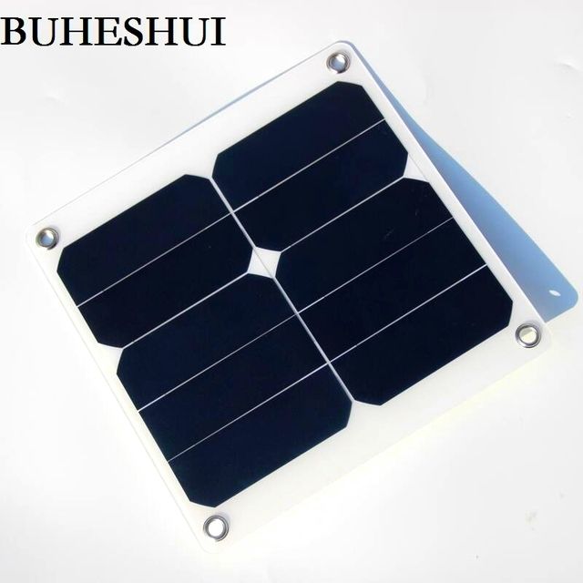 Buheshui 13w 5v Solar Panel Charger Green Portable Waterproof Design Usb Port Outdoor Camping Sun High Efficiency
