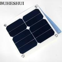 Buheshui 13 واط 5 فولت بطاريات شمسية الأخضر المحمولة للماء تصميم منفذ usb التخييم سنباور كفاءة عالية