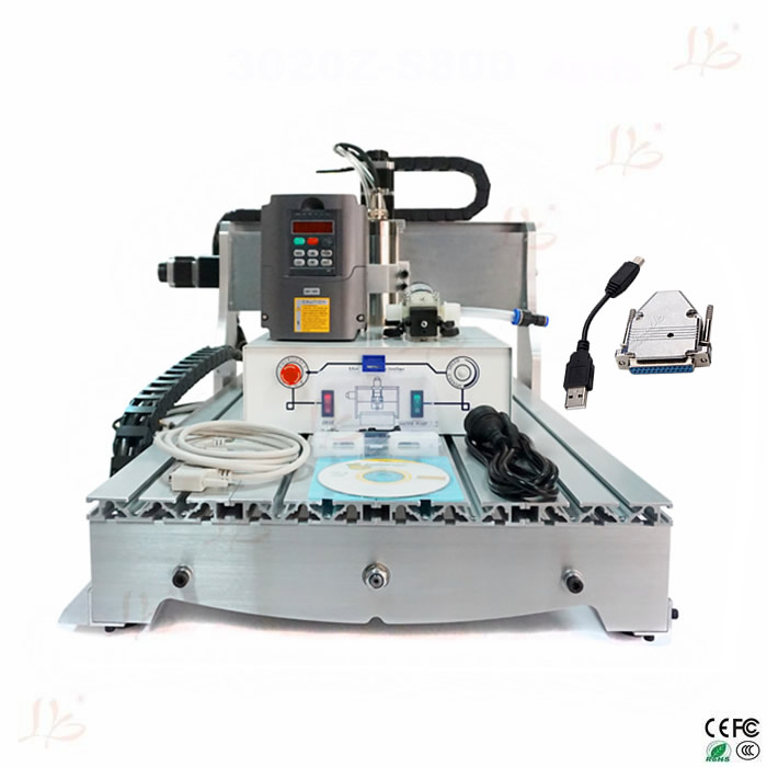 CNC 6040Z-S800 Router mini milling machine for metal, wood polywood with USB parallel port adapter mini cnc router machine 2030 cnc milling machine with 4axis for pcb wood parallel port
