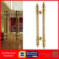 De alto grado de Oro Puerta de Entrada Puerta Tire de la Manija De Cobre Disponible Para la Entrada de Madera/Vidrio/Metal puertas PA-268-51 * 1000mm