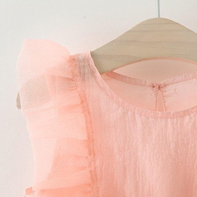 Vestido de malla de cumpleaños elegante para niñas. Vestido de fiesta sin mangas para niñas. Vestido de verano para niñas de 0 a 3 años.