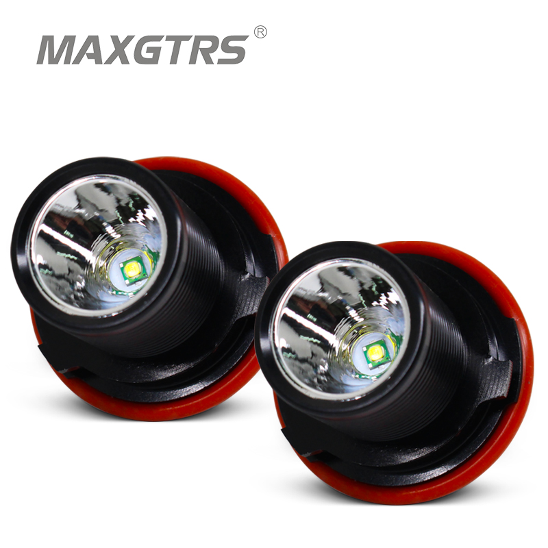 2x 10W Car LED CREE Chip Marker Angel Eye Halo Ring Aluminum Alloy Light Bulb For <font><b>BMW</b></font> E39 E53 <font><b>E60</b></font> E63 E64 E66 E87 E83 image