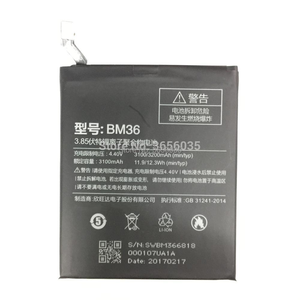 Tyrca Bateria 5s-Battery Xiaomi5s BM36 3100mah For M5s/Mi5s/-tools