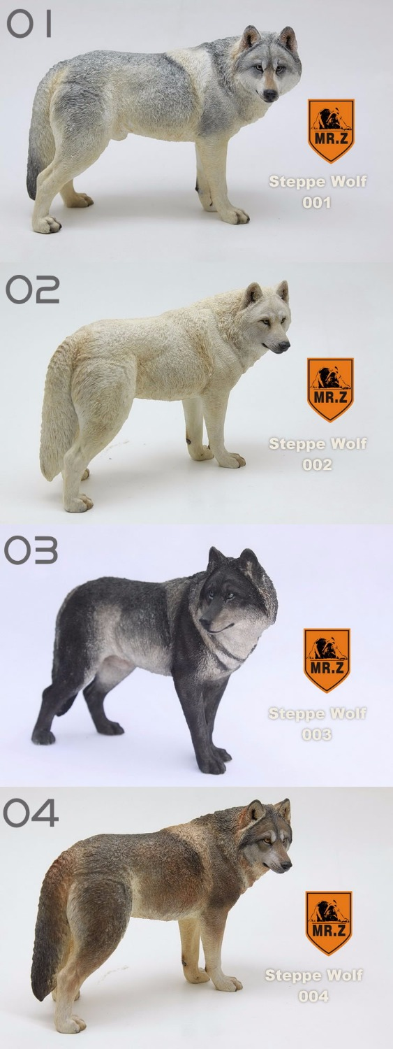 ФОТО Mr. Z 1/6 Set  Steppe Wolf Animal 20 cm lenght,In stock