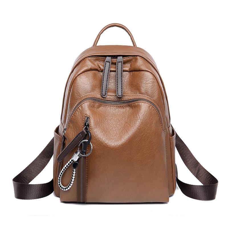 Women Backpacks Female Rucksack Shoulder-Bags Fashion PU For Feminine