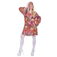 0d805fdfcc19f New Halloween Costume For Women Disco Dress Costume Adult Peace And Love Hippie  Costume Party Cosplay