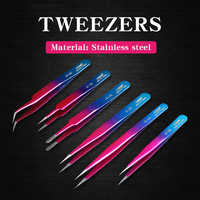 Electronics Tweezers Curved Straight Tip Precision Stainless Steel Forceps Mobile Phone Repair Hand Tools