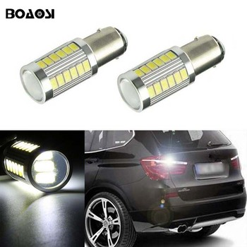 BOAOSI 2x 1156 P21W Car LED Lamp 5630 CREE Chip Rear Reversing Tail Light for BMW 3/5 SERIES E30 E36 E46 E34 X3 X5 E53 E70 Z3 Z4 image