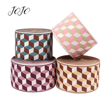 JOJO BOWS 90mm Grosgrain Ribbon Stereoscopic Embroidery Webbing For Needlework Gift Card Wrapping DIY Handmade Craft Supplies