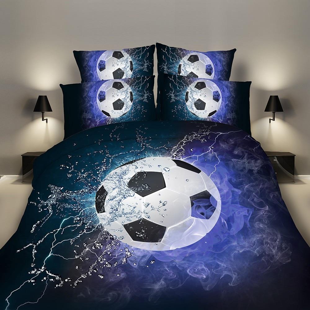 Bedding Sets 2/3pcs 3D Duvet Cover Bed Sheet Pillow Cases Size EU/CN/US Queen King Blue Football outbreaks