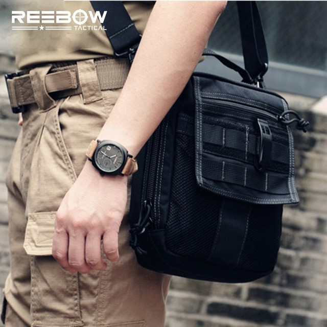Reebow Tactical Messenger Edc Bags Men Outdoor Sports Travel Army Military Molle 1000d Cordura Single Shoulder
