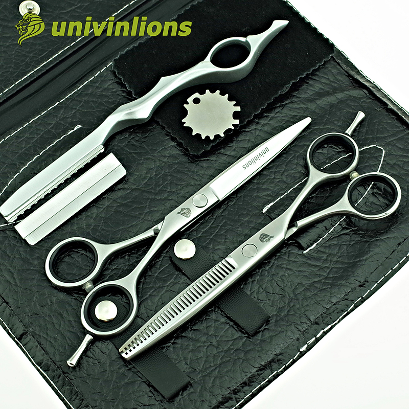 Univinlions 6 Quot Matt Silver Razor Hairdressing Scissors