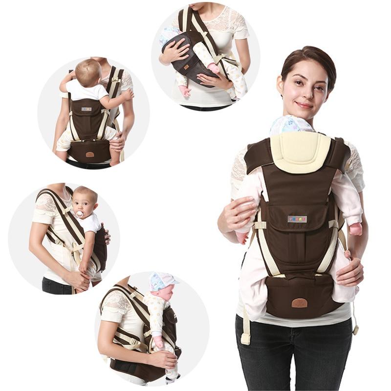 Ergonomic Baby Carrier Backpack Breathable Bebe Kangaroo Hipseat Mochila Toddler Infant Sling Waist Stool Removable