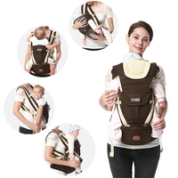 Ergonomic Baby Carrier Backpack Breathable Bebe Kangaroo Hipseat Mochila Toddler Infant Sling Waist Stool Removable