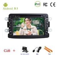 Android 9.1,In Dash car redio 1Din DVD player Dacia Sandero Duster Renault Captur Lada Xray Logan 2 GPS stereo audio navigation,