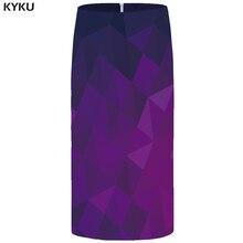 KYKU Brand Graphic Skirts Women Blue Plus Size Vintage Casual Harajuku 3d Print Pencil Sexy Ladies Womens Funny