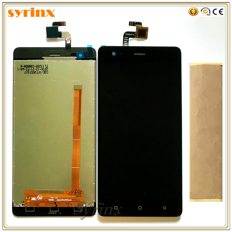 SYRINX +Tape Mobile Phone LCD Display For Pretigio Grace R5 LTE psp5552 psp 5552 duo LCD Display Touch Screen Digitizer Assembly