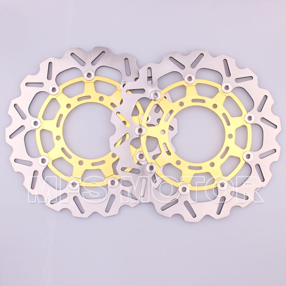2pcs Front Brake Discs Rotors for DAYTONA IE 1000 V10 CENTAURO SPORT 1000 CALIFORNIA EV SPECIAL 1100 V11 SPORT 1100 STELVIO 1200