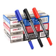 3 Pcs Twin Tip Permanent Markers, Fine Point, ( Black, Blue, Red ) Ink, 0.5mm-1mm