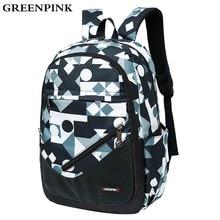 68533f5abc25c GREENPINK Kalite Naylon Sırt Çantası Erkekler Moda Çocuk gençler için sırt  çantaları Kız Okul Çantaları Unisex
