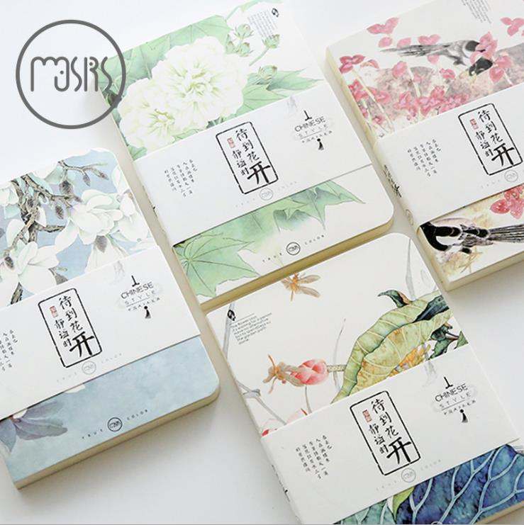 Japanese creative portable notebook thickened little fresh student notes notebook stationery Korean book lenwa star notebook creative stationery south korean thickened hard surface notebook 1pcs